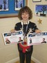 Tyla was very proud of his certificates and medal from The Razzamataz School of Dance