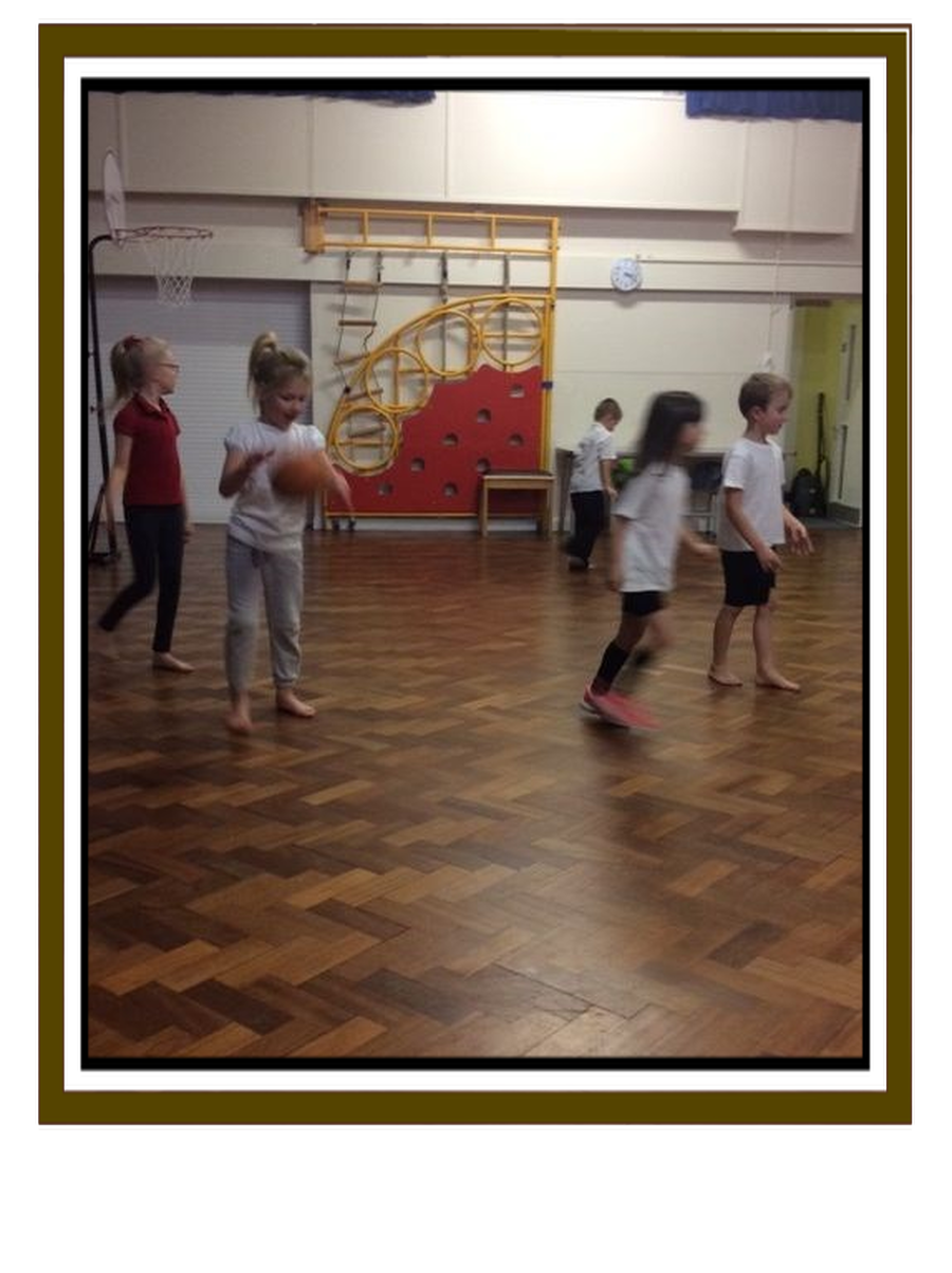 We have learnt how to dribble a basketball!