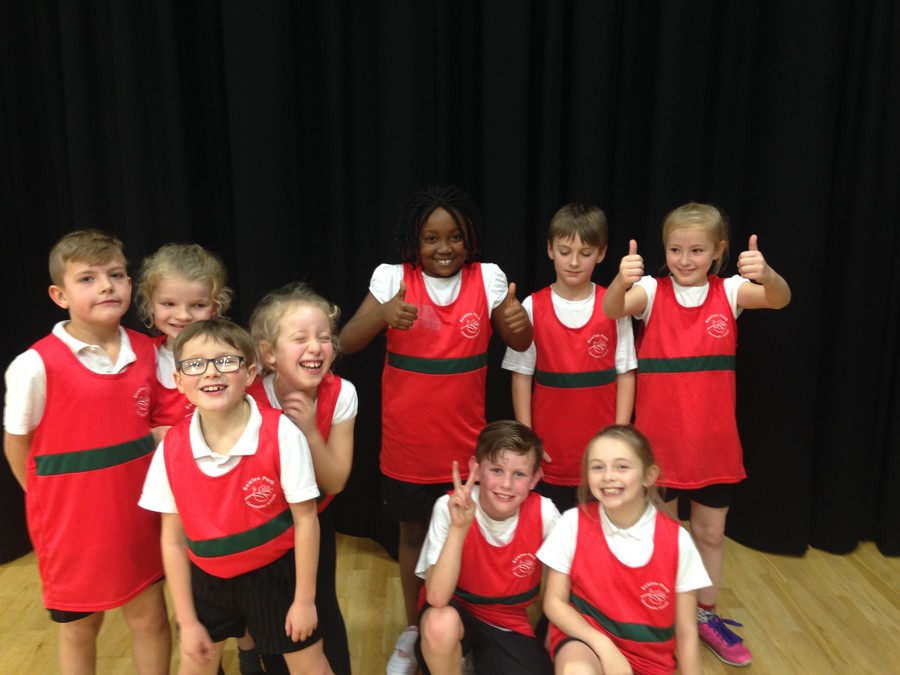 The year 3 and 4 Dodgeball team on a recent visit to St Mary's