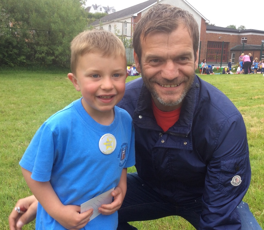 Roy Carroll on Sports Day