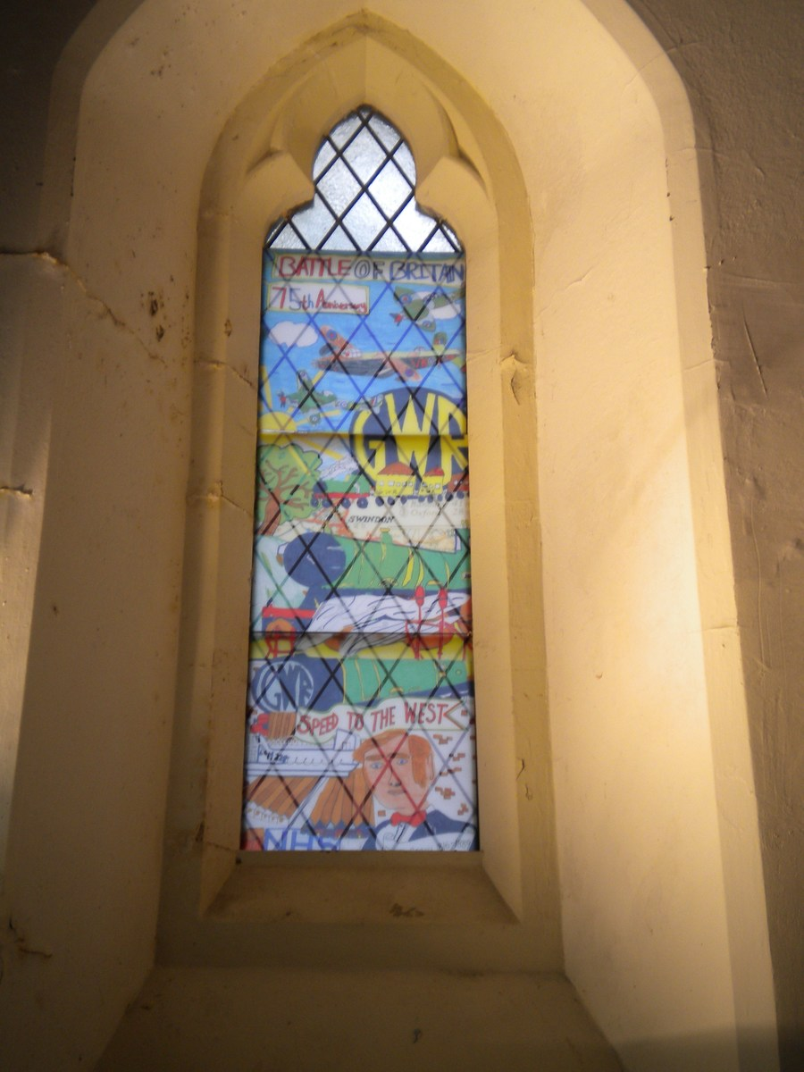 Our window in Radnor Street cemetry chapel