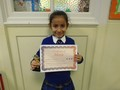 Year 3<p>Surya - for being a role model in the classroom and always being the best she can.</p>