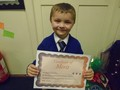Year 1<p>Adam - for a fantastic effort during maths lessons.</p>