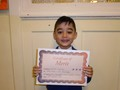 Year 1<p>Mirsab - for a huge improvement with his reading and writing during reading recovery.</p>