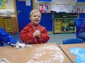 Mark making in 'snow'