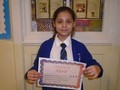 Year 5<p>Nicol - for always giving 100% to her work</p>