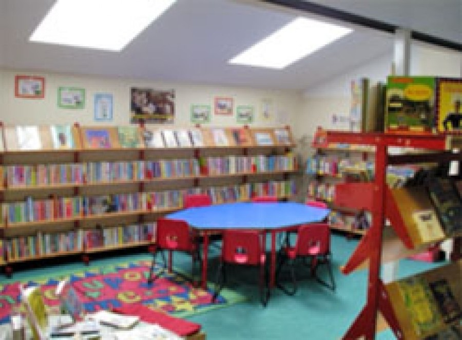 School library after its extension funded by FOBS