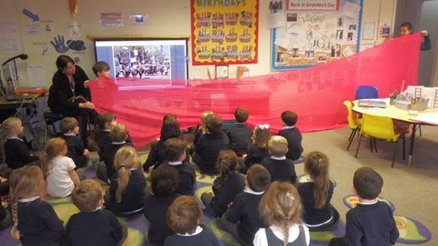 As part of our topic 'Here and There', we looked at a Sari from India