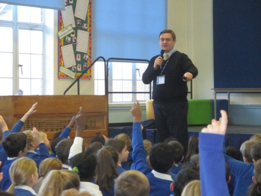 Will Quince MP visit to Key Stage 2