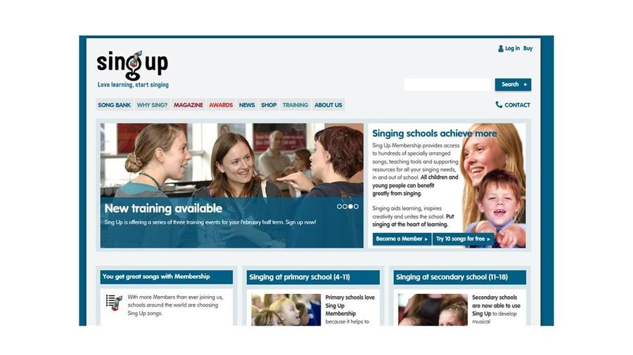 Singup website