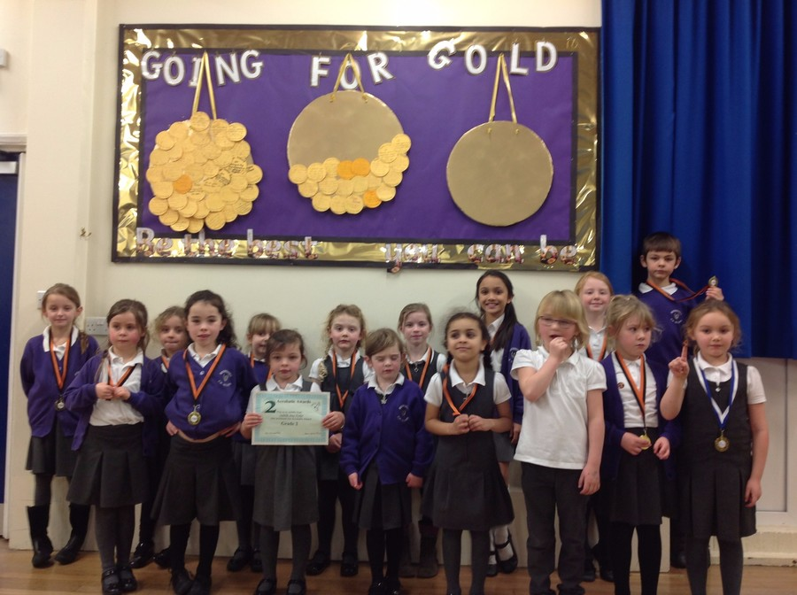 Gymnastics Club Medal winners