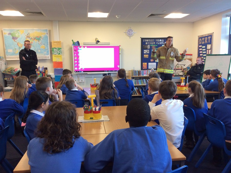 Our visit from Morley Fire Station 23.01.17