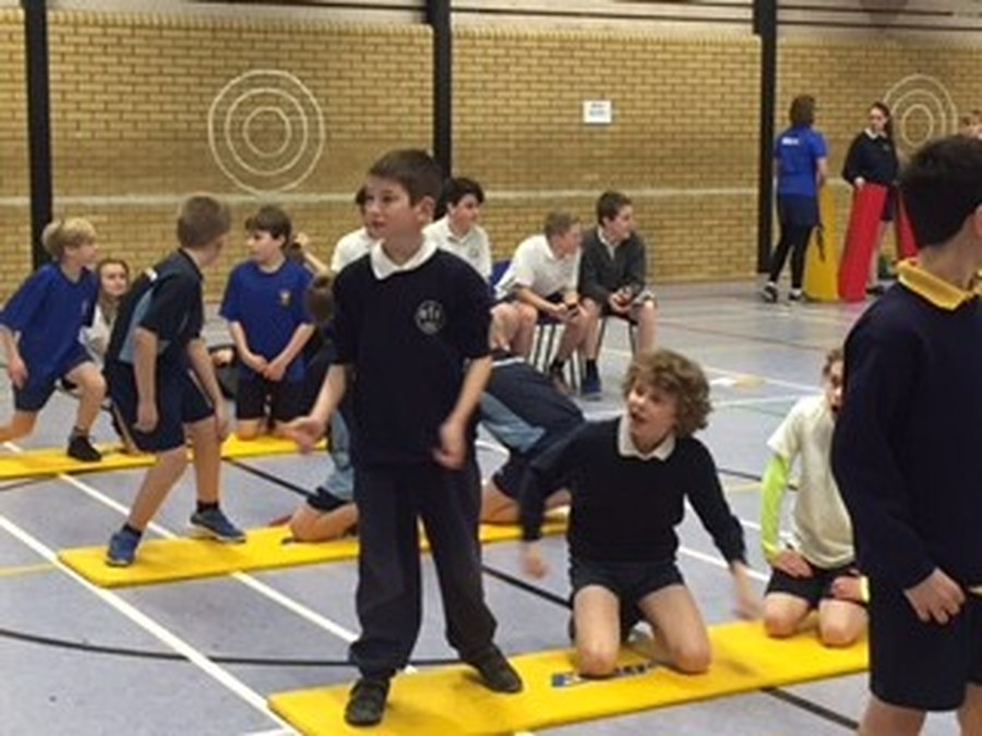 On Monday 30th January, Owls class were invited, along with 3 other schools to Hadleigh High School to take part in an Athletics Festival. The children took part in relay races and track events inside the sports hall. Everyone had a good time joining in with the activities arranged by the High School staff and sports prefects.
