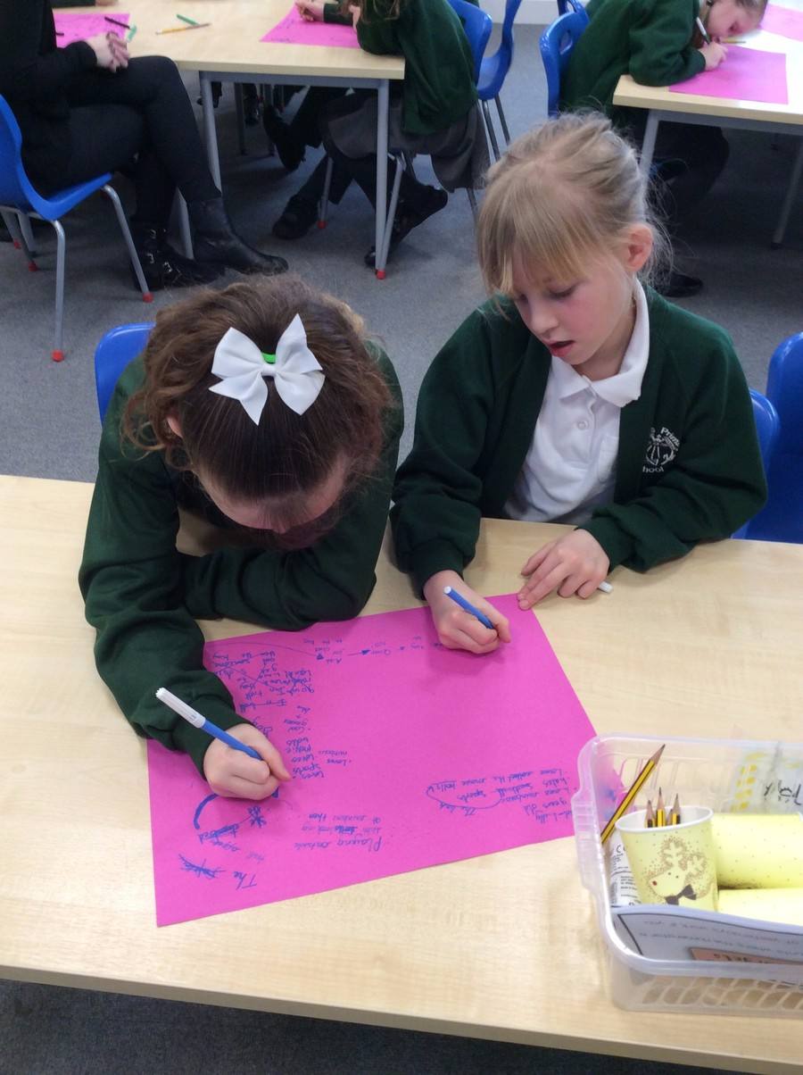 Last half term, we worked with buddies to plan stories, write stories and then edit and publish them in the style of David Walliams.