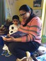 Some children enjoyed hearing stories read by their parent