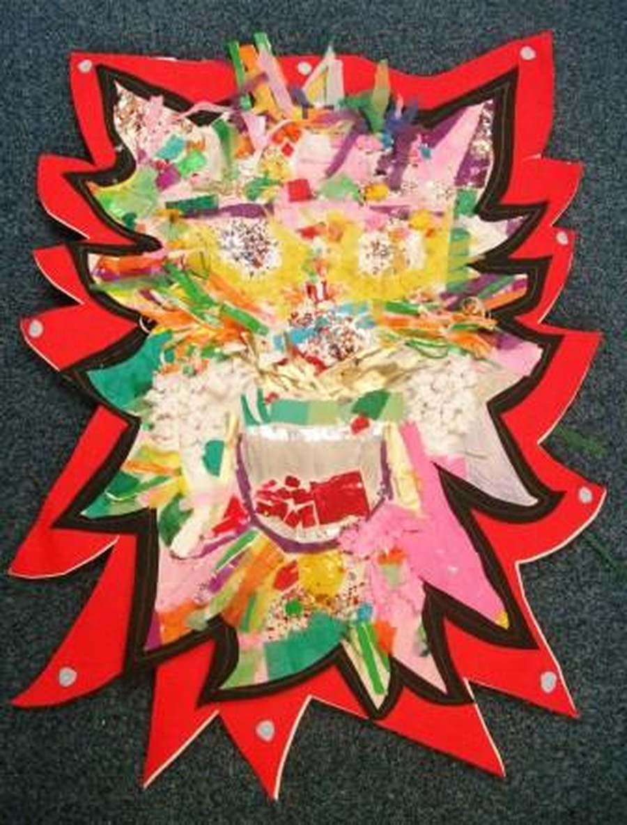 Chinese New Year Dragon created at the coffee morning on 27-01-17