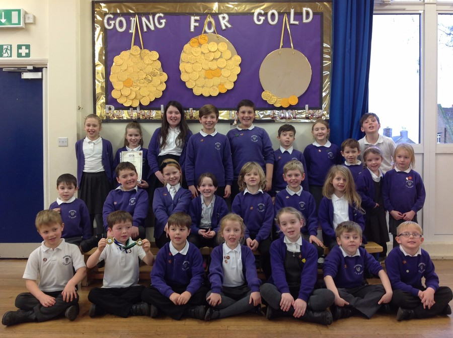 Friday 3rd February with our first Reception Gold Medal winners