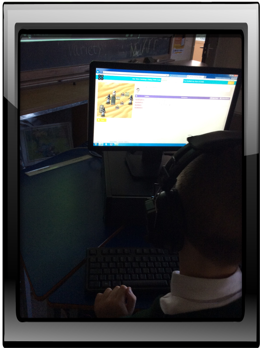 We are enjoying learning about coding!