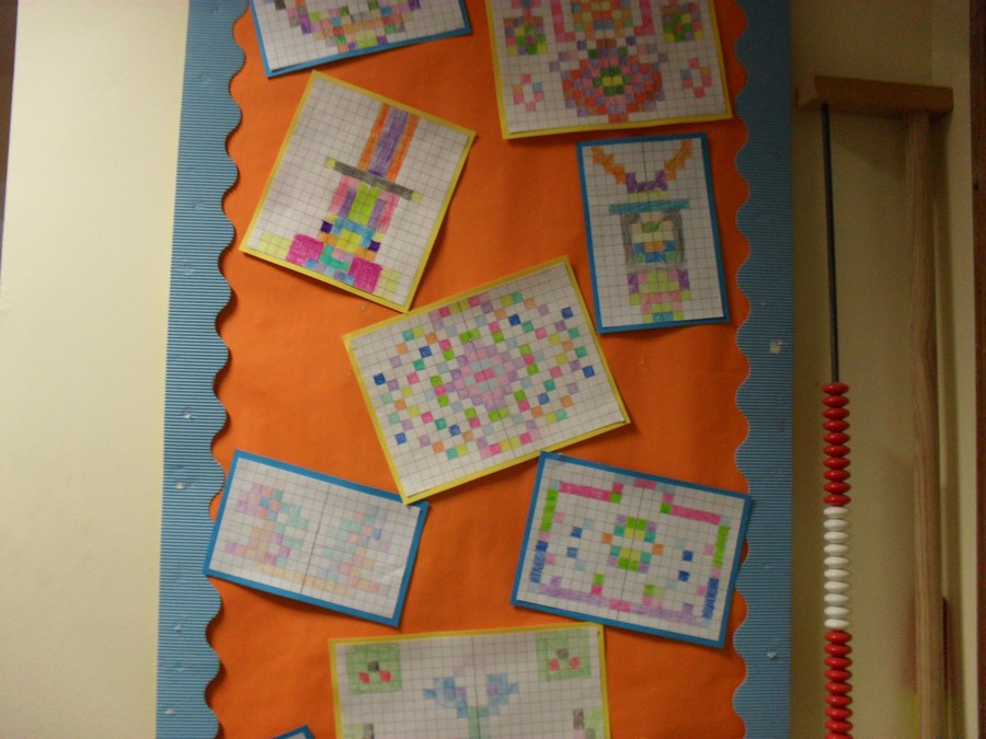 Art is taught cross curricular! Maths and art together through symmetry in our year 4 class!
