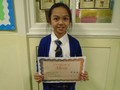 Year 5<p>Kate - for an impressive piece of writing about the tiger from the WWF advert</p>
