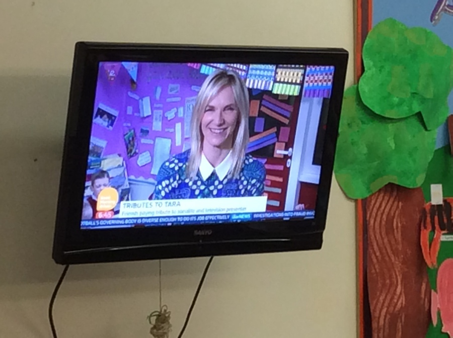 Jo Whiley talking to the presenters