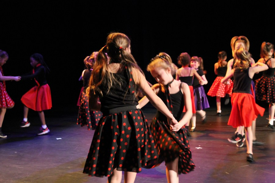 Dance club perform at Swindon schools Dance Festival January 2017