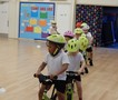 Learning to follow the rules of the 'road'-follow the track, no overtaking or bumping, adjust speed and stop.