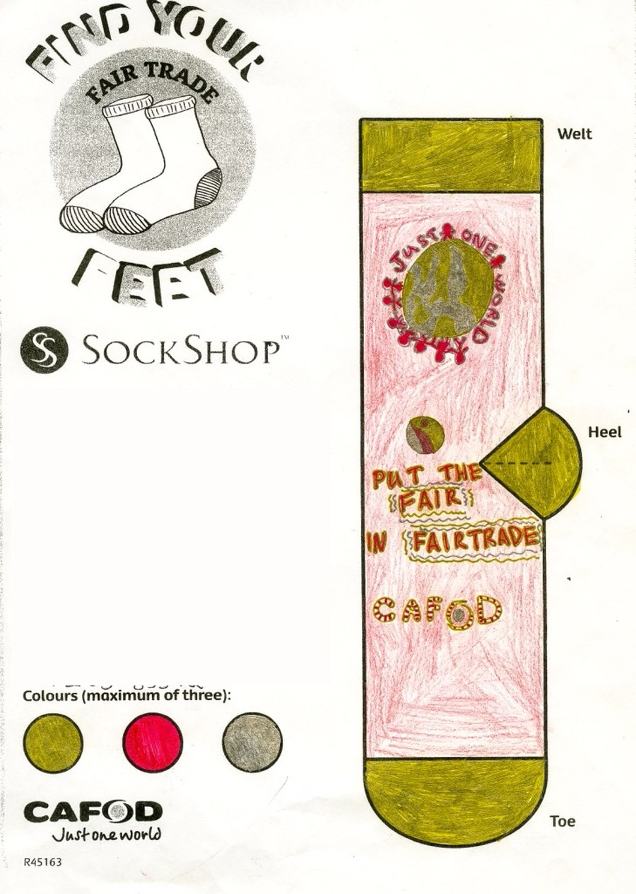 Charlotte was the runner up of the CAFOD Sock Shop competition 2015