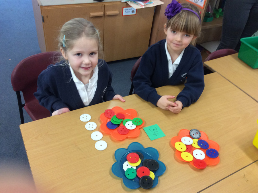 In Maths we have been learning about 'tens' and 'ones'.
