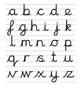 The cursive alphabet taught at Long Lee