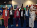 Year 2 staff dressed as crayons from 'The Day the Crayons Quit!'