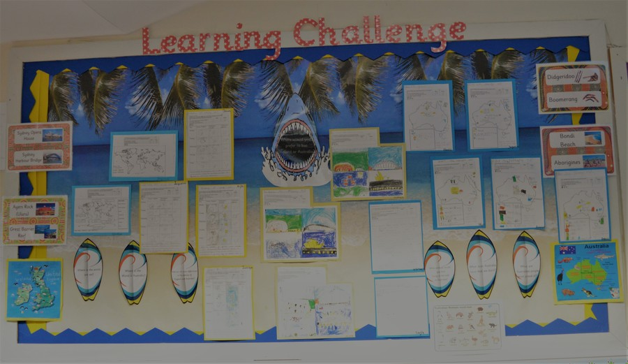 Our Learning Curriculum Challenge Board