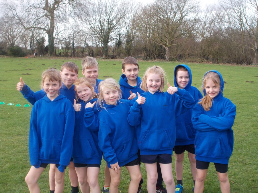 Elmsett Team: Molly, Luke, Lottie, Oscar, Lexi, Morgan, Charlotte, Bradley and Ruby.