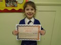 Year 1<p>Isabella - for always being polite. She is a fantastic role model for her peers.</p>