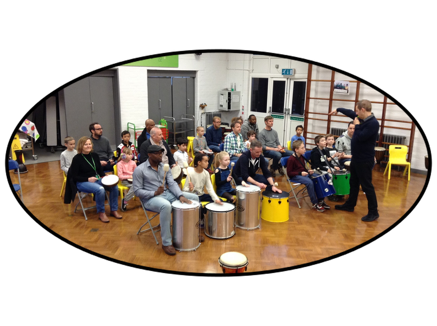 Hands up for Dads Drumming Workshop Feb 2017