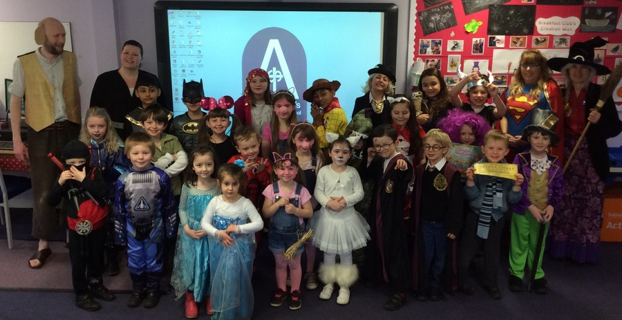 We all dressed up for World Book Day