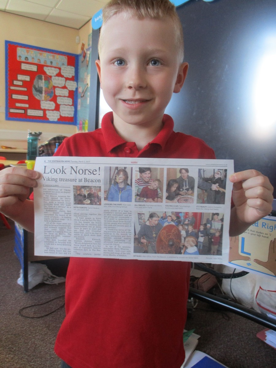 Jamie brought this newspaper article in to share