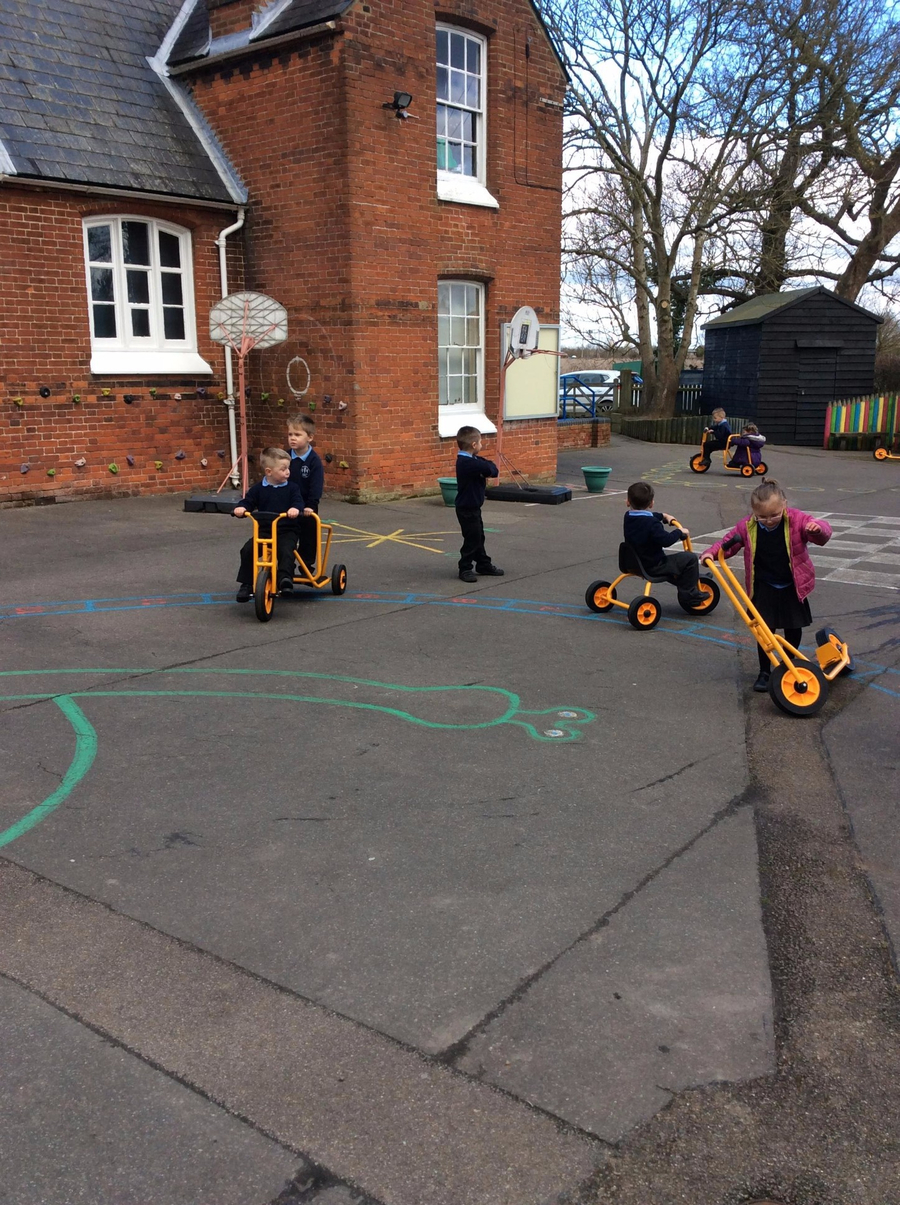 The highly anticipated arrival of the new bikes and scooters was met with much enthusiasm and excitement. The children are enjoying developing their balance, coordination and spacial awareness on their fantastic new equipment.