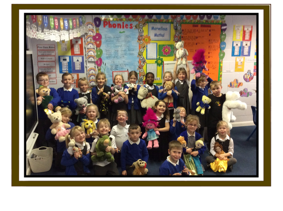 We had a lovely day with our soft toys and really enjoyed our picnic!