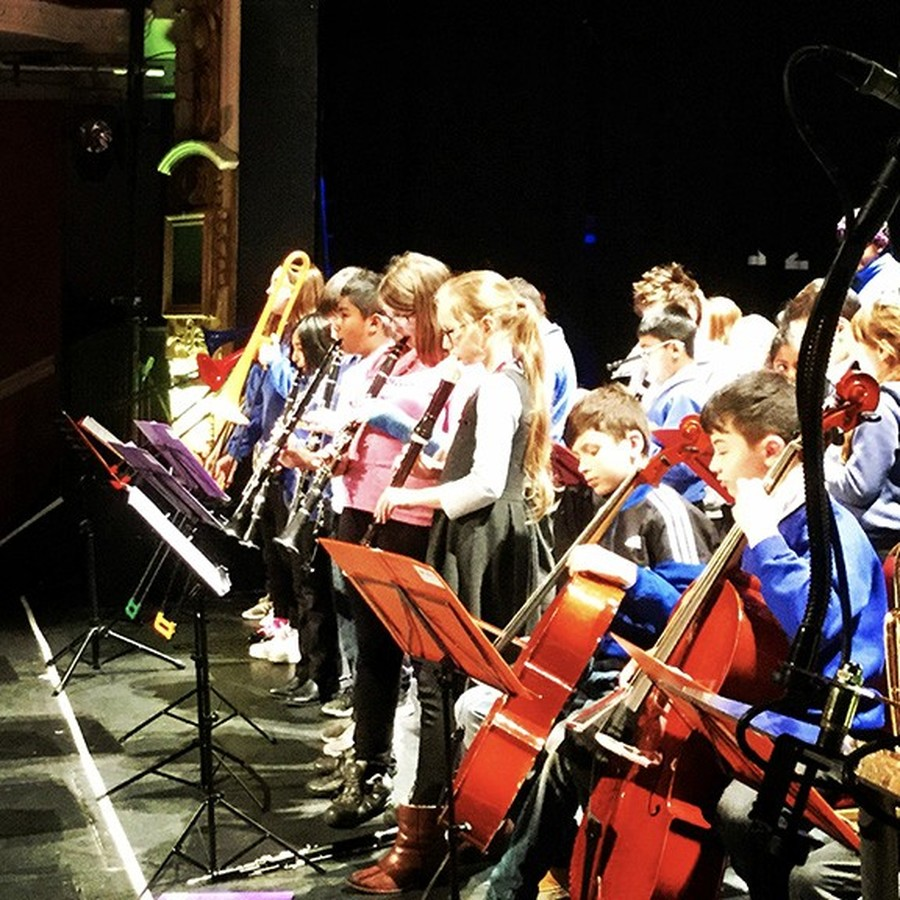 Westborough Orchestra rehearse at the Palace Theatre.