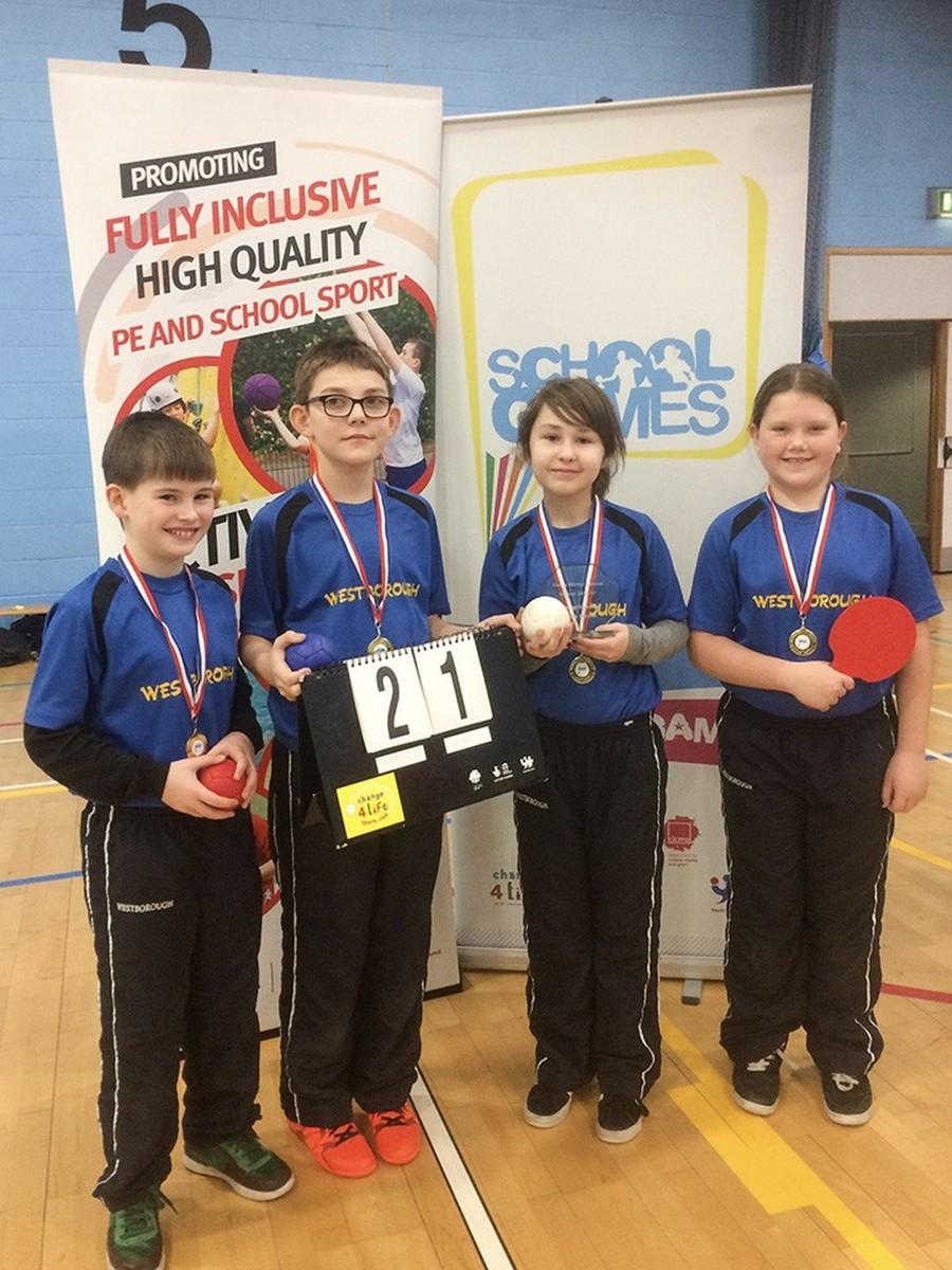 Winning Boccia Team Essex Winter School Games 2016-17