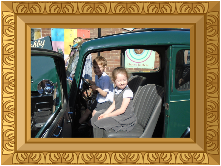 A visit from Bobby the Austin 7