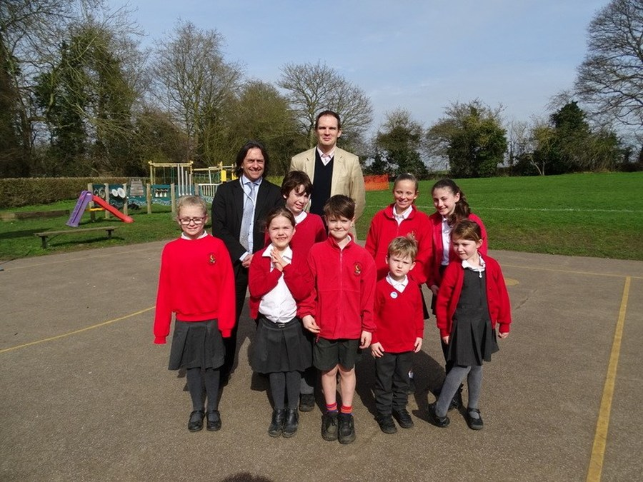 DR Dan Poulter M.P. visited the school and spent some time talking to our school council.