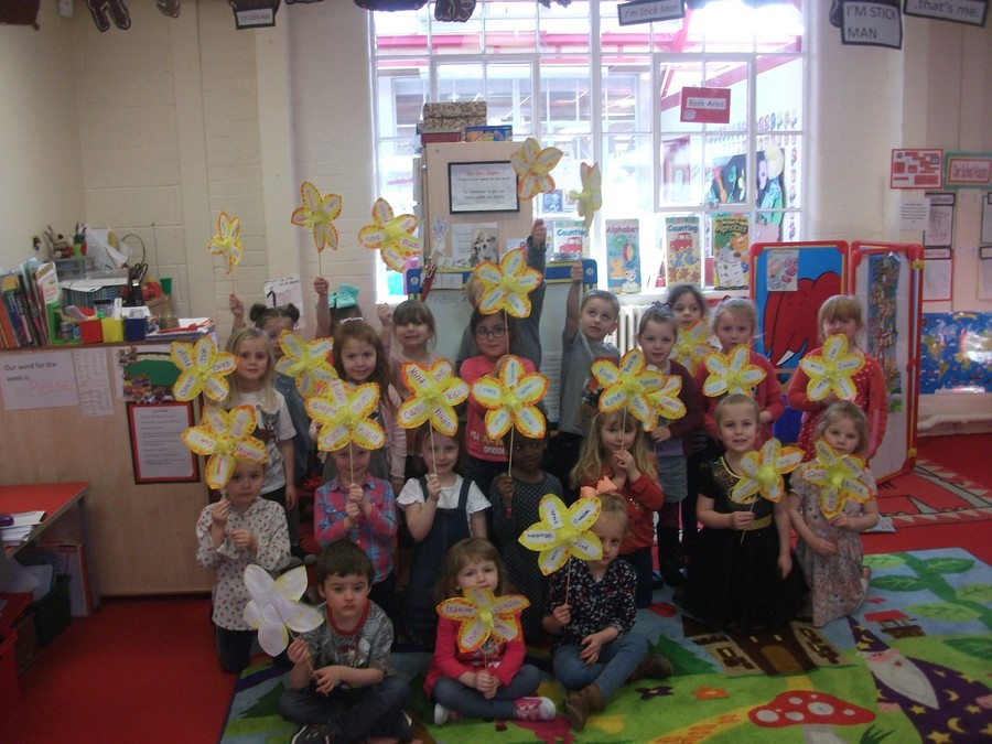 We made flowers for Mothering Sunday