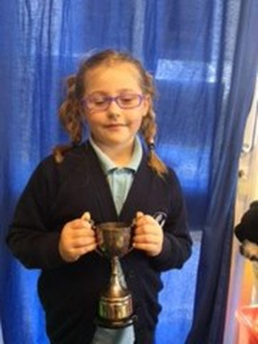 Katie Collins - Winner of Aldham Cup, Spring Term 2017