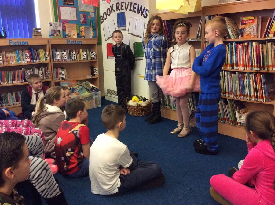 Some of our Junior Librarians dressed up for World Book Day to promote our School Library