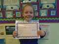Year 2<p>Tianna - for a great effort in applying maths skills to her geography work about Spain</p>