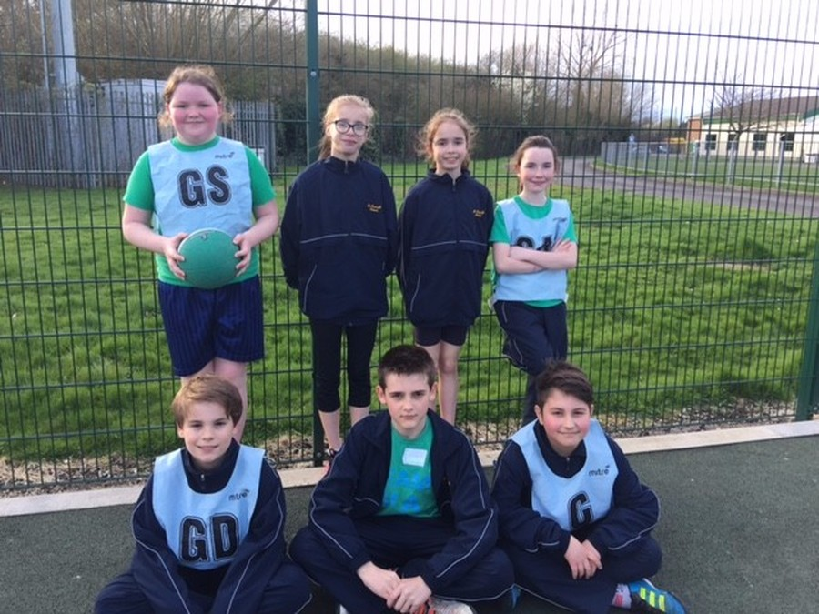 Our A team who got through to the County Netball Tournament