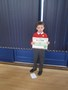 Jamie and his swimming certificate, keep up the good work in the pool!