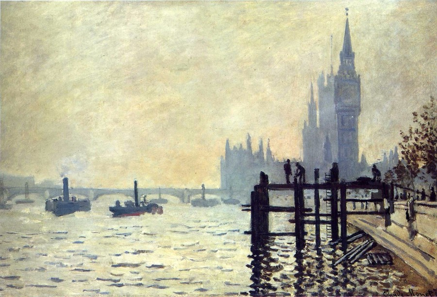 Year Three - Thames Below Westminster by Monet